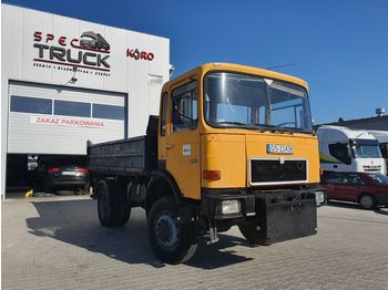 Φορτηγό ανατρεπόμενο MAN 14.170, Full Steel 6 cylinders, tipper 4x4, Manual